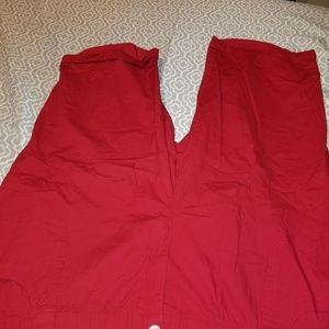 Catherine's solid red capris sz 3x NWT